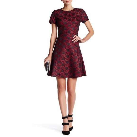 faa9a5ba2a90 Betsey Johnson Dresses & Skirts - Betsey Johnson Flocked Lace Fit & Flare  Dress